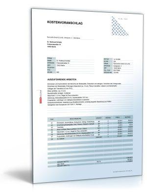 Kostenvoranschlag / Angebot für Garagen- und Hausanbau