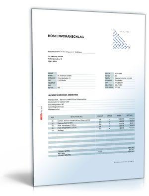 Kostenvoranschlag / Angebot Montage von Rollläden, Rollos und Markisen