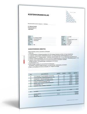 Kostenvoranschlag / Angebot für Umbau- und Ausbauarbeiten