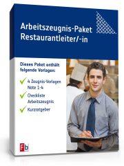 Arbeitszeugnis-Paket Restaurantleiter/-in