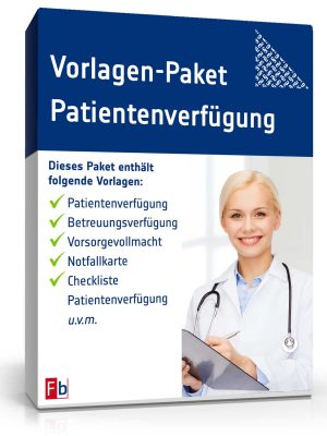 Vorlagen-Paket Patientenverfügung
