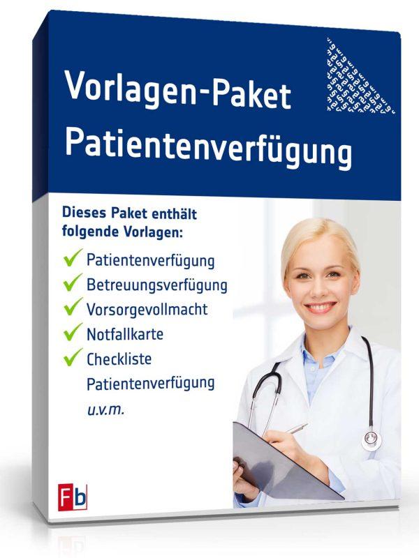 Vorlagen-Paket Patientenverfügung 1