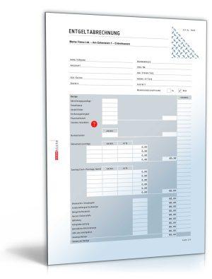 Lohnabrechnung / Gehaltsabrechnung (mit Empfangsbestätigung)