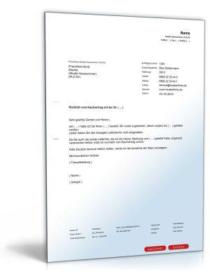 Rücktritt vom Kaufvertrag wegen verzögerter Lieferung