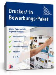 Drucker/Druckerin Bewerbungs-Paket