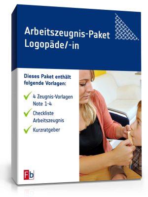 Arbeitszeugnis-Paket Logopäde/-in