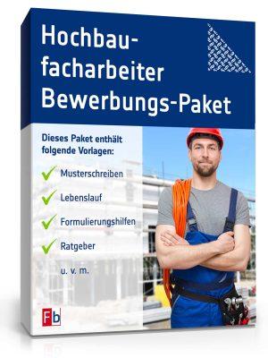 Hochbaufacharbeiter Bewerbungs-Paket