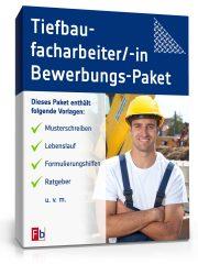 Tiefbaufacharbeiter Bewerbungs-Paket