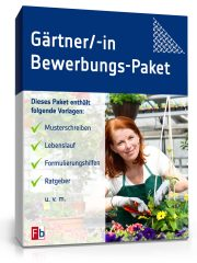 Gärtner/ Gärtnerin Bewerbungs-Paket