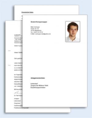Maschinen- und Anlagenführer Bewerbungs-Paket
