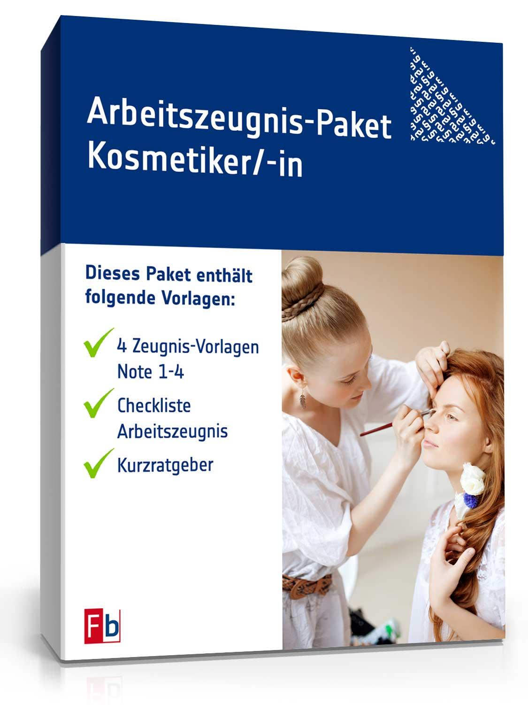 Arbeitszeugnis-Paket Kosmetiker/-in