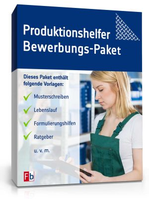 Produktionshelfer Bewerbungs-Paket