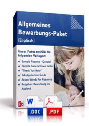 Allgemeines Bewerbungs-Paket (Englisch)
