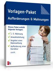 Vorlagen-Paket Aufforderungen und Mahnungen