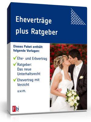 5 verschiedene Eheverträge (Word/PDF) plus Ratgeber