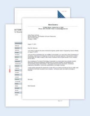 Bewerbungs-Paket für einen Ingenieur (Englisch)