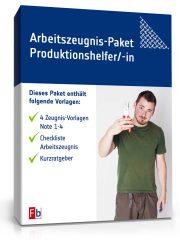 Arbeitszeugnis-Paket Produktionshelfer/-in