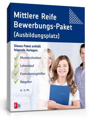 Realschulabschluss / Mittlere Reife Bewerbungs-Paket (Ausbildungsplatz)