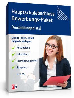 Hauptschulabschluss Bewerbungs-Paket (Ausbildungsplatz)