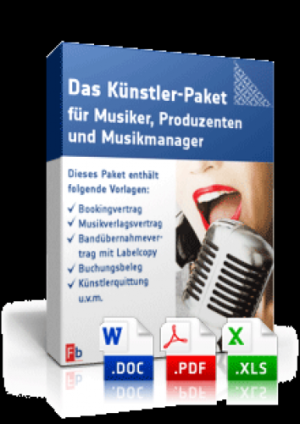 Das Künstler-Paket für Musiker, Produzenten und Musikmanager