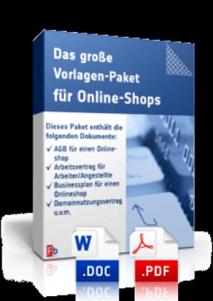 Das große Vorlagen-Paket für Online-Shops