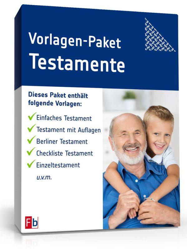 Vorlagen-Paket Testamente 1