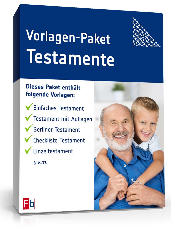 Vorlagen-Paket Testamente