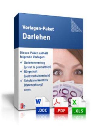 Vorlagen-Paket Darlehen
