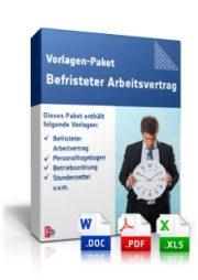 Vorlagen-Paket Befristeter Arbeitsvertrag