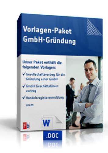 Vorlagen-Paket GmbH-Gründung