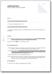 Lizenzvertrag (nicht ausschließliche Lizenz)
