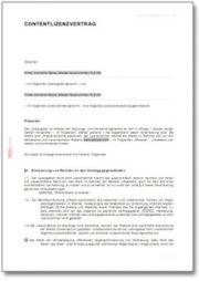 Contentlizenzvertrag zur Verbreitung von Inhalten im Internet