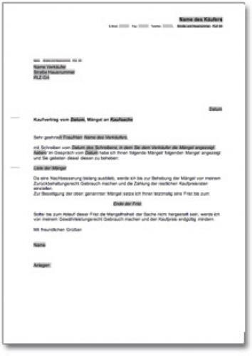 Rücktrittserklärung und Aufforderung zur Kaufpreisrückzahlung