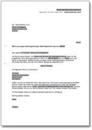 Mahnung wegen Zahlungsverzugs bei Verpflichtung zur Abschlagszahlung