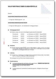 Kaufvertrag über Kfz-Zubehörteile