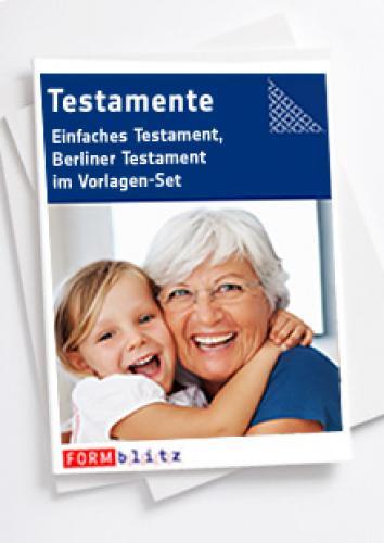 Testamente (Einfaches Testament, Berliner Testament)