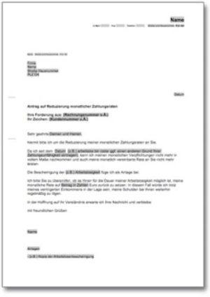 Antrag auf Reduzierung der Zahlungsraten (bei Verbraucherinsolvenzverfahren)
