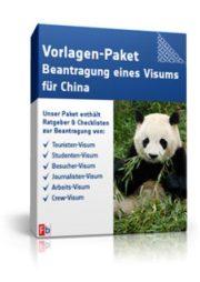Vorlagen-Paket Beantragung eines Visums für China
