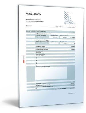 Rechentabelle: Werbungskosten Unfallkosten