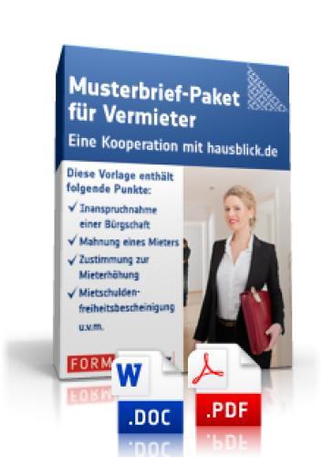Brief Für Vermieter : Musterbrief paket für vermieter