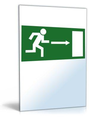 """Schild """"Notausgang nach rechts"""""""