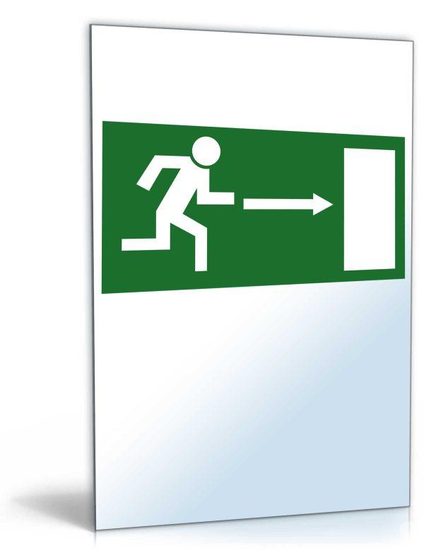 """Schild """"Notausgang nach rechts"""" 1"""