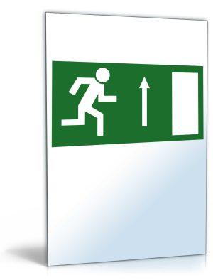 """Schild """"Notausgang nach oben"""""""