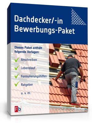 Dachdecker/ Dachdeckerin Bewerbungs-Paket