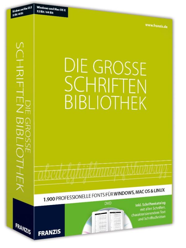 Franzis – Die grosse Schriftenbibliothek 1
