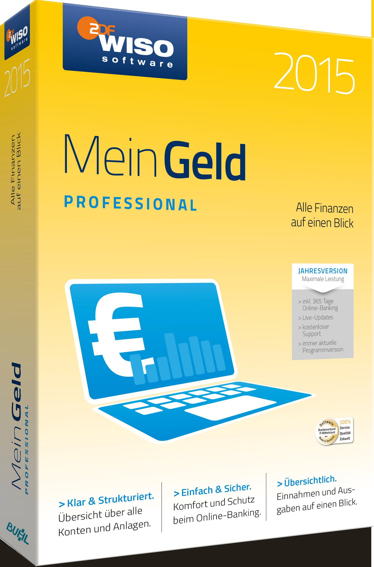 WISO Mein Geld 2015 Professional 365 Tage Version