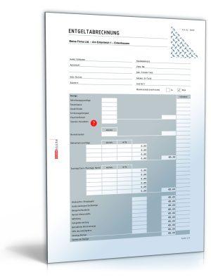 Lohnabrechnung / Gehaltsabrechnung 2015