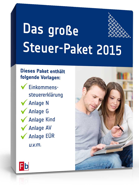 Das große Steuer-Paket 2015