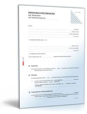 Änderungsvereinbarung (Mindestlohn)