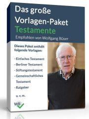 Das große Vorlagen-Paket Testamente